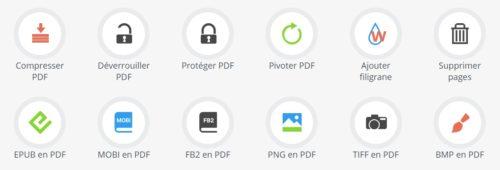24 outils gratuits convertir  fusionner déverrouiller PDF
