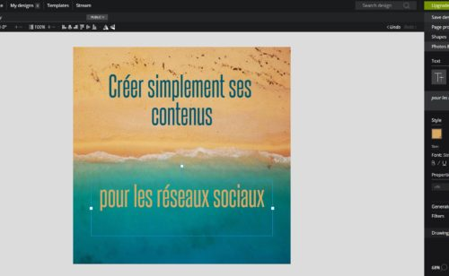 Pixteller   outil gratuit créer visuels réseaux sociaux