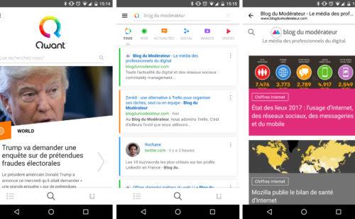 Qwant présente application mobile