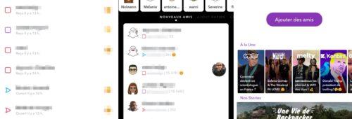 Snapchat   barre recherche retrouver amis plus facilement