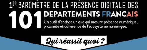 Baromètre   présence digitale départements français
