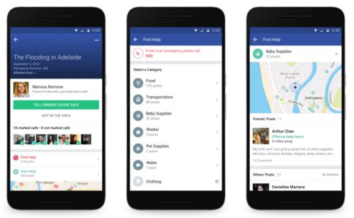 Facebook lance Community Help offrir trouver l'aide pendant crise