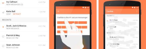 Confide   envoyer messages éphémères  cryptés protégés