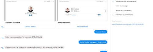 Signbot   bot Facebook créer facilement signature boîte mail