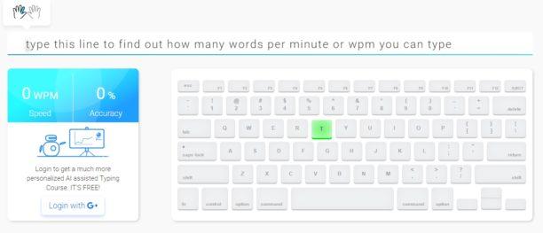 Testez votre vitesse de frappe et entraînez vous à écrire