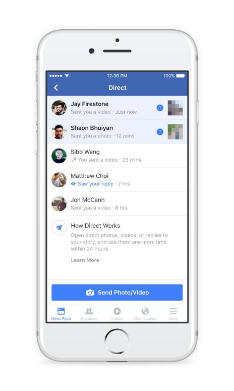 Officiel Des Stories Et Des Filtres Sur Facebook Exactement Comme