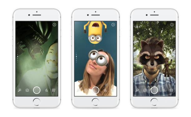 Des stories et des filtres sur Facebook, exactement comme sur Snapchat — Officiel