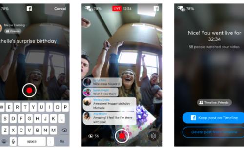 Facebook déploie vidéo live 360° toutes pages