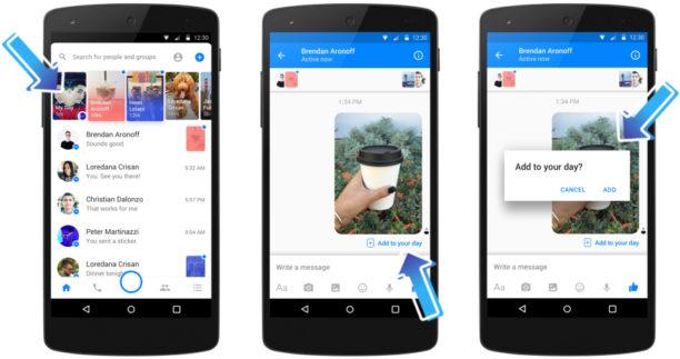 Messenger Day : voilà les stories de Facebook à la façon Snapchat