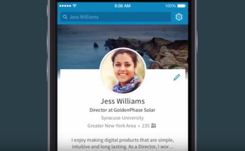 LinkedIn lance filtres photos profil app mobile