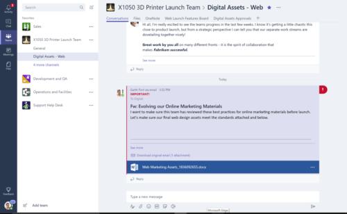Microsoft déploie officiellement Teams concurrent Slack