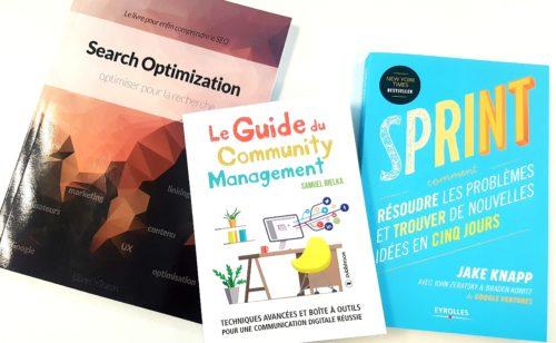 3 livres découvrir gagner SEO  community management gestion projet