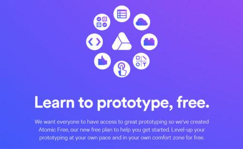 Atomic   version gratuite créer prototypes d'applications mobiles