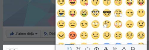 Facebook   accédez liste emojis insérer publications