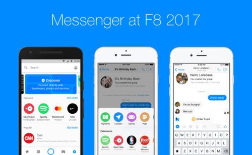 Nouveautés Messenger   bots  déploiement l'assistant M  réponses automatiques…