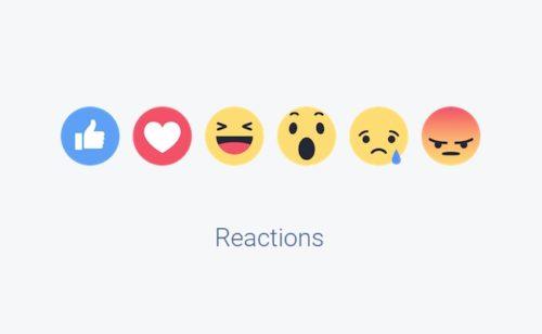 réactions Facebook sont disponibles commentaires