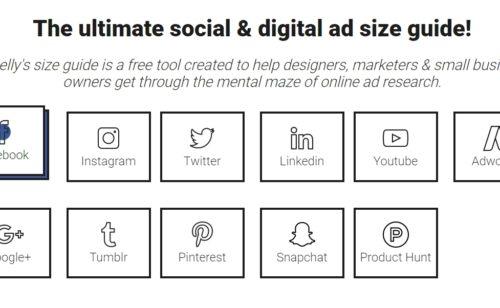 Toutes tailles d'images publicités réseaux sociaux