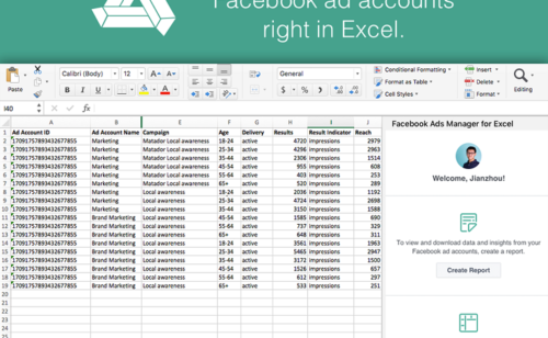 Facebook Ads Manager For Excel   plugin officiel automatiser reportings