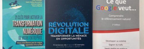 SEO  révolution digitale transformation numérique   3 livres découvrir gagner