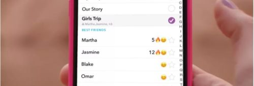 Snapchat lance stories groupe