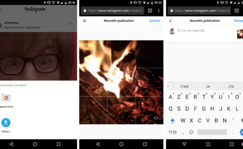 Instagram   publier photo depuis navigateur  c'est désormais possible