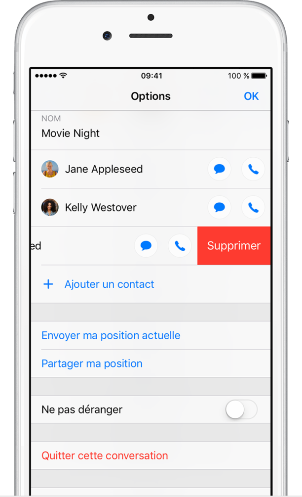 comment enregistrer une conversation messenger iphone