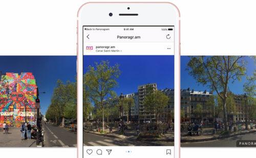Créer diaporamas Instagram facilement Panoragram