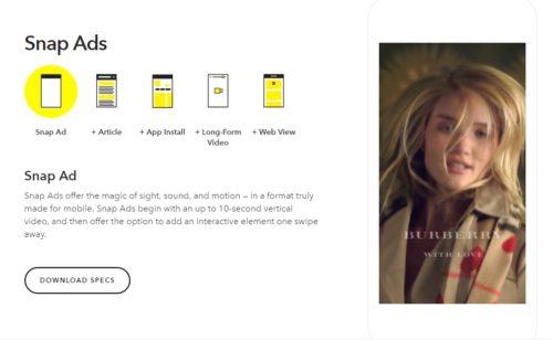 Snapchat   lancement d'un gestionnaire publicités libre service juin