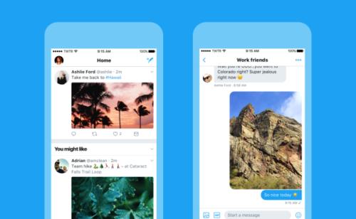 Twitter présente nouveau design