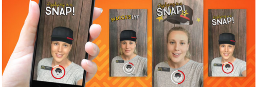 Quand marques utilisent Snapchat recruter