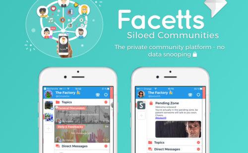 Facetts   application messagerie communautés silos