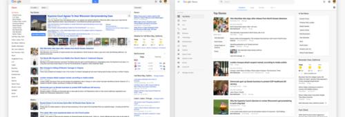nouveau design Google Actualités