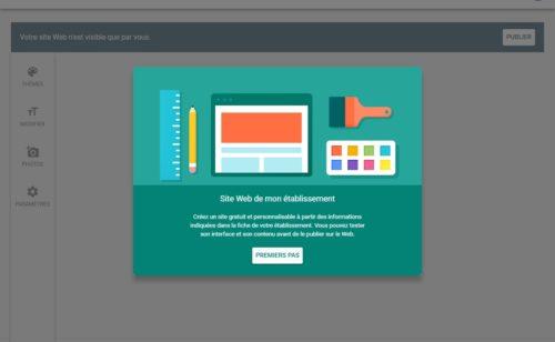 Créez site web gratuitement établissement Google My Business