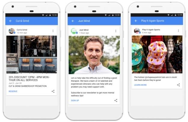 Google Posts : les entreprises peuvent publier leurs messages directement sur Google