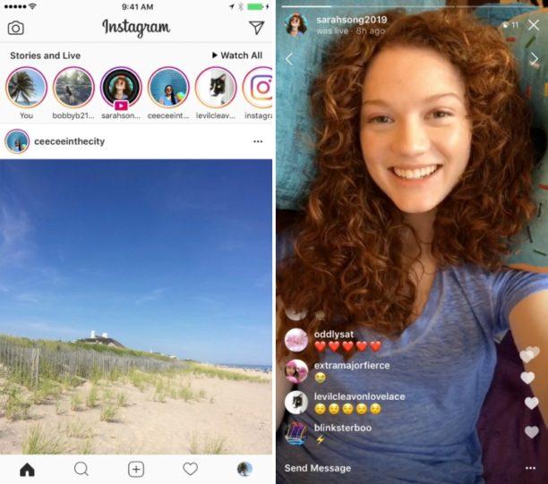 Les vidéos en direct peuvent être ajoutées en Stories — Instagram