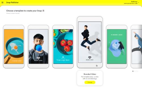 Snapchat   lancement l'Ad Manager Publisher créer publicités