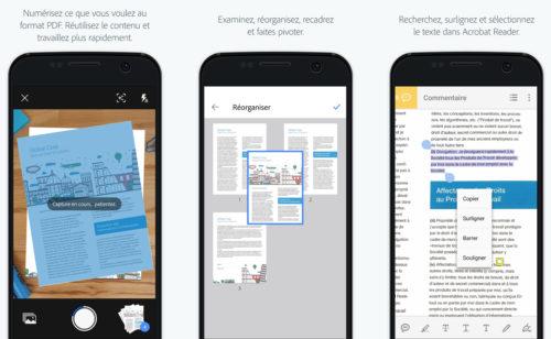 3 applications numériser document mobile (scanner)