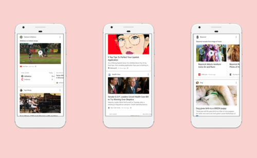fil d'actualité personnalisé l'application mobile Google (Feed)