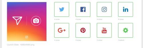 outil gratuit recadrer images réseaux sociaux   Landscape