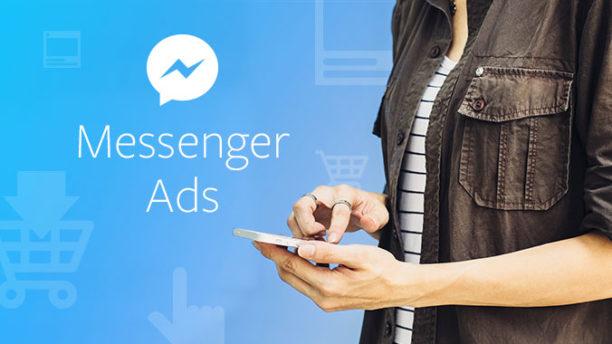 Les publicités débarquent entre les converserions — Facebook Messenger