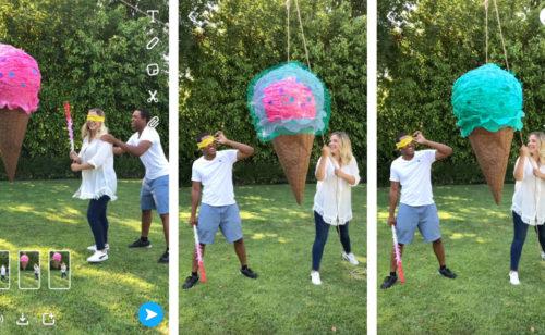 Nouveautés Snapchat   publier plusieurs vidéos d'affilée changer couleur d'un objet