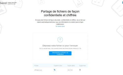 Mozilla lance Send   service gratuit sécurisé d'envoi fichiers