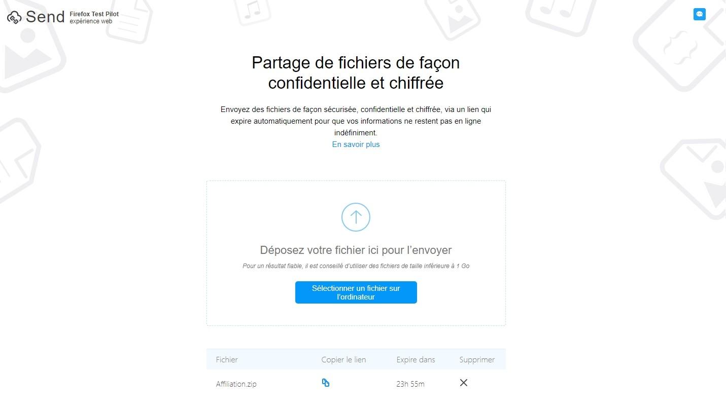 Mozilla Lance Send Un Service Gratuit Et S Curis D