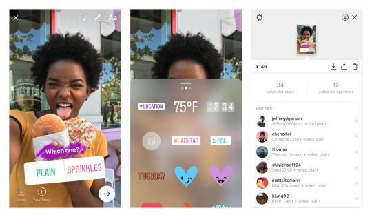 Sondages interactifs dans les Stories et autres nouveautés — Instagram
