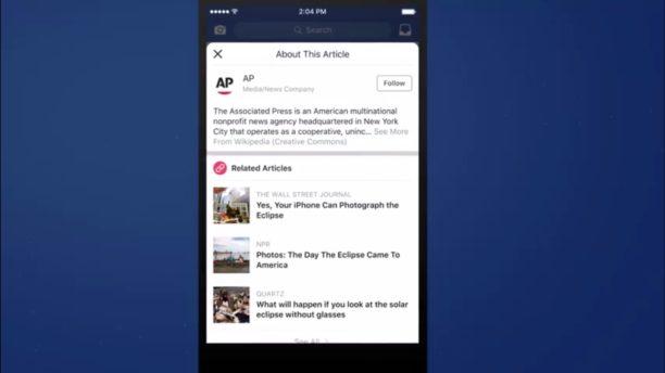 Facebook contextualise les liens pour lutter contre les fake news