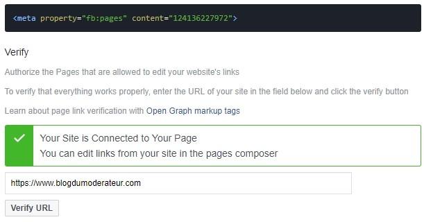 Facebook : pour modifier l'aperçu des liens, vous devez « vérifier votre domaine »