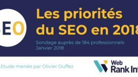 SEO 2018 : les priorités des professionnels (étude WebRankInfo)