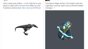 Des posts en 3D interactifs sur Facebook