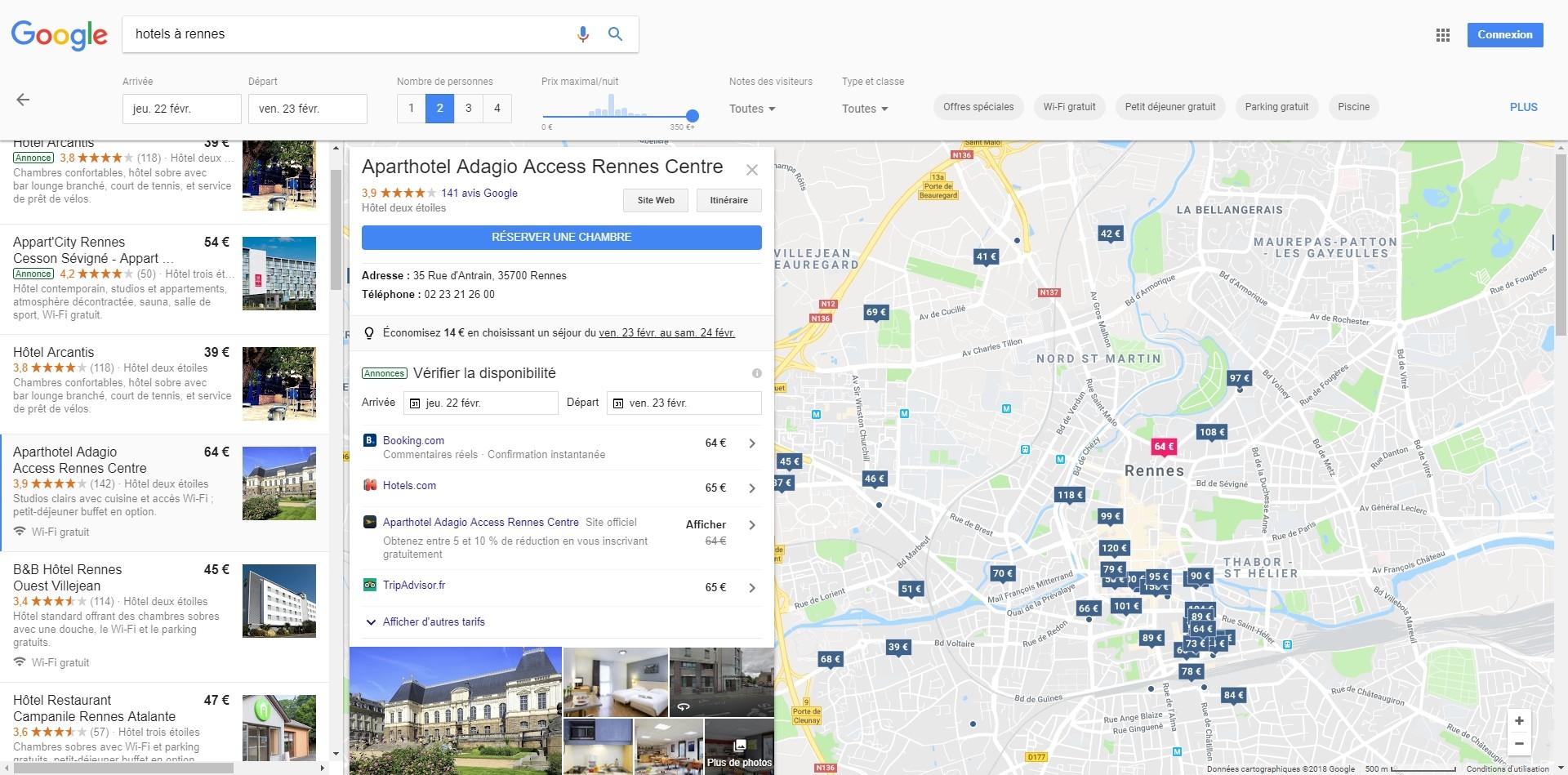Google veut redevenir le moteur de recherche des h tels for Recherche hotel