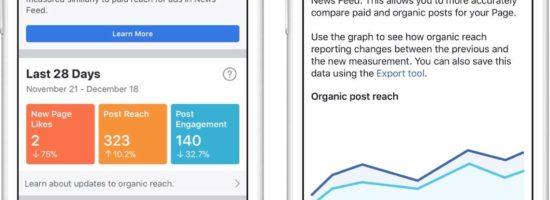 Facebook affiche enfin le « vrai reach » dans les statistiques des pages